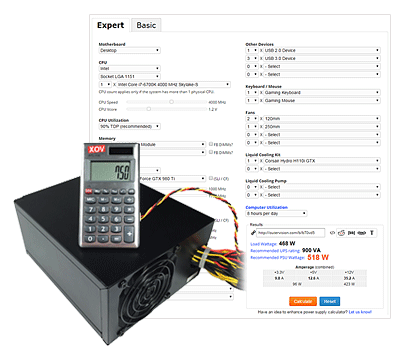 Power Supply Calculator yexnms Build
